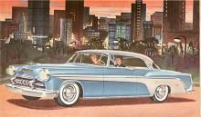 Första årsmodell av De Soto Fireflite var 1955 då den positionerades överst, före Firedome som var den finaste 1954. Bilden visar en Sportsman som hard-topmodellen kallades. V-8:n var på 200 hk och automatlådan hette Powerflite.