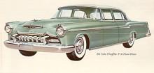 De Soto hade 1955 liksom de andra märkena i Chrysler Corp en helt ny form signerad Virgil Exner. Den kallades Forward Look och fick ett bra mottagande på marknaden. Fireflite Sedan hade en bred kromlist på sidan och inte det fält som kunde fås i kontrastfärg på convertible och hard top.