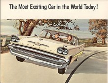 Konkurrensen var knivskarp och redan 1957 fick bilarna i Chryslerkoncernen helt nya karosser med jättefenor - Suddenly it's 1960, proklamerade Plymouth. De Soto tog också i med världens mest spännande bil. En teknisk nyhet var torsionsfjädring som gav starkt förbättrade vägegenskaper.