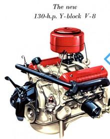 1954 var det äntligen dags för en snärtigare toppventils V8. En V-motor med Y-block, beskrivningen var en svår nöt för Fords reklamavdelning.