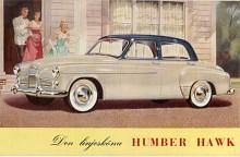 Humber Hawk utvecklades successivt och till 1954 konverterades motorn från sid- till toppventiler och effekten höjdes till 70, senare till 75 hk. Överväxel var tillval. Efter att ha varit helt okänd i Sverige såldes omkring 1000 Humber här under första halvan av 1950-talet.