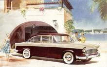 En helt ny självbärande kaross fick Humber Hawk 1957 som med flera facelifts skulle tjäna modellen tills namnet Hawk försvann 1967. Att formgivarna sneglat på Chevrolet 1955 är väl tydligt. Mekaniskt var det inga större förändringar utom att automatlåda ibland erbjöds som tillval.