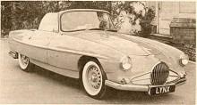 Efter ett produktionsavbrott på sex år återkom det engelska märket Lea-Francis på Londonsalongen 1960 med en fyrsitsig sportbil som kallades Lynx. Den hade motor från Ford Zephyr och växellåda från Triumph TR3. Formgivningen var milt uttryckt egensinnig. Ett exemplar visades året därpå på bilutställningen i Amsterdam men firman var finansiellt på fallrepet och det blev bara tre exemplar. Dessa ägs nu alla av en och samme samlare.