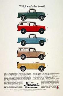 Scout gick att få i flera olika versioner vilket den här annonsen från 1964 visar.
