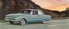 Första generationen av Ford Falcon hade såväl utstrålning som ett behändigt format. Tre i framsätet fick plats trots betydligt mindre yttermått.