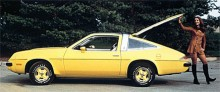 Kanariegul förvisso, men ändå inte en Sunbird utan den till förväxling lika syrran Buick Skyhawk.