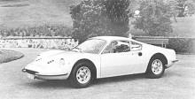 Första Dinon i landsvägsutförande började säljas 1967. Den mittmonterade motorn var en V6 helt i aluminium på 2 liter, konstruerad av Ferrari men tillverkad i Fiats fabriker. 1969 kom Dino 246 GT med en V6 på drygt 2,4 liter. 1972 kom 246 GTS med avtagbart tak.