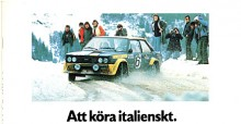 Fiat 131 i fett Abarth-utförande firade stora segrar i rally.