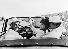 Jean Paul Belmondo i sin Aurelia B24 Spider.