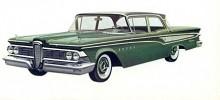 I Edsels förenklade utbud modellåret 1959 blev Corsair toppmodellen. Formspråket med den kontroversiella grillen gick igen men karosserna var i grunden desamma som Fords.