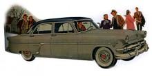 1954 uppdaterades Customline med den nya Y-blocks V-åttan. Toppventiler och 130 friska hästkrafter. Ranch Wagon, County Sedan och Club Coupé hette de olika versionerna.