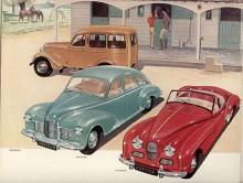 Same stable var underskriften på denna annonsbild från 1952 som visar Jowetts alla modeller; skåpbilen Bradford samt Jowett Javelin och Jowett Jupiter ( se namnsdagsbilar 29 juni!) Två år senare ställde Jowett in all produktion därför att dess leverantör av karosseridelar hade köpts upp av Ford.