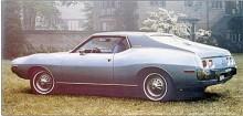 Den första smäckra AMC Javelin ersattes 1971 av en helt ny modell med de svulstiga former som låg i tiden; även Mustang blev större och rundare i formen. AMX var nu reducerad till ett dekorpaket på samma hjulbas, men den nya Javelin sålde sämre än första upplagan och 1974 blev sista året.