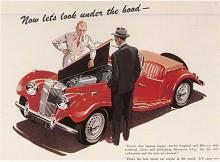 Den sista i raden av T-types var TF, 1953-1955. Det var en modernisering av TD och som face-lift var den ovanligt lyckad, lägre och smäckrare. De infällda strålkastarna accepterades faktiskt av traditionalisterna. Mot slutet fanns den också med en från 1250cc till 1466cc uppborrad motor.