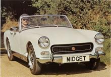 Det här är fortfarande en Midget Mark III men med runda hjulhus som fanns bara åren 1972-1974 - mycket eftersökta varianter idag