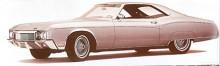 En liten flirt med femtiotalets dolda bakhjul gjordes i slutet av 60-talet och bilen på bilden från 1970 blev den sista.