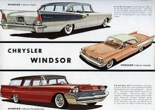 1958 såldes Chrysler Windsor i dessa tre versioner i Sverige. Stora fenprydda kärror för de välbeställda. Med svart lackering inte ovanliga som landshövdingebilar.