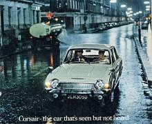 För att öka avståndet till den enklare Cortina försågs Ford Corsair från 1966 med V4-motorer. De var nykonstruerade i England och hade märkligt nog inget gemensamt med de V4:or som tyska Ford redan tillverkade. Corsairs V4:or fanns i 1,7- och 2-ltersutförande och var ganska råa i gången.