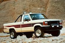 1989 kom andra generationen på samma tema, mer att räkna som en ansiktslyftning. Bilden visar en 1990 års Ranger.