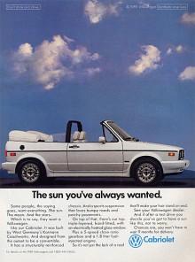 Karmann fick uppdraget att bygga cabrioletversionen av Golf, de hade ju gjort ett bra jobb med Typ 1 cabriolet i så många år. Golf Cabriolet lanserades 1979 och startade ännu en modevåg i bilindustrin. 389 000 exemplar byggdes av generation 1, innan den lades ned 1993.