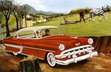 """Chevrolet Bel Air var bilmodellen som lanserades 1953 som """"Top of the line"""" för Chevrolets bilflora. Här en 2454 Bel Air Hardtop Coupé 1954 med rektangulära positionsljus fram till skillnad mot 53:ans runda."""