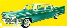 Commander var en mellanmodell i Studebakers utbud och fanns även som fyradörrars som denna från 1958. Loewys design var oftast perfekt direkt i början men får ändå anses att den förvanskades med varje årsmodells ändringar.