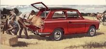 Austin A 40 Futura presenterad på hösten 1958 var den första i en lång rad Farinaritade BMC-modeller. Bakrutan var fast så den var utseende till trots ingen kombi. Ett år senare kom Countryman som hatch-back men det uttrycket var ännu inte uppfunnet.