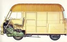 Estafette fanns i stort anal varianter från fabrik och särskilda påbyggare. Med förhöjt tak var lastvolymen enorm. Det från R8 övertagna drivpaketet fick slita hårt.