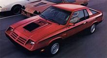 1983 togs Charger upp som modell igen men hade förvandlats till en förklädd Mitsubishi. Motorn var en rak fyra, på bilden med turbo. Kanske var den snabbare än Chevrolet Camaron på reklambilden.