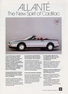 Ultra-luxury var en helt ny bilklass. Uppfunnen av Cadillac. Personifierad av Allanté.