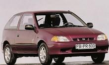 Justy 1995 - en Suzuki Swift i botten.