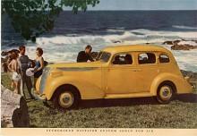 Dictator hade en sidventilmotor på 218 CID med en uppgiven effekt av 90BHP. Studebakers 37:or var formgivna av Raymond Loewy och kunde bland annat fås som Cruising Sedan med utbyggd koffert eller med flatback som bilen på bilden som hette Custom Sedan.