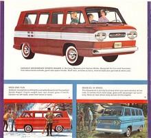 Chevrolet Corvair Greenbrier Sports Wagon som det fullständiga namnet löd var en tidig föregångare till 1980-talets vanmode. Nio personer och mycket bagage fick plats och en campingutrustning var tillval.