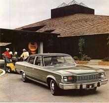 Som alltid med AMC-bilar är det oklart om Matador var ett märke eller en modell. Den tillverkades 1971-78, först som en intermediary men var från 1974 den största modellen från AMC . På bilden en Matador Sedan från 1976 med sitt typiska överbett.