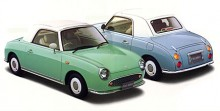 Nog anade man att 1990-talet skulle bli lite knäppt när Nissan spottade ur sig knasbil efter knasbil. En formsöt sak inte helt olik en Gutbrod från 1950-talet: Nissan Figaro!