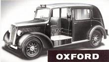 En Oxford som bara den minns som åkte mycket taxi i London för så där 50-60 år sedan! Det var William Morris försök att konkurrera med Austin som var det dominerade taximärket i London. Nuffieldmärket Wolseley fick uppdraget och när Wolseley Oxford Taxicab lanserades 1949 ansågs den hypermodern! Snart kom Austin med sin nya FX3 som var bättre och ett par år efter bildandet av BMC tillverkades den sista Oxford Taxicab.