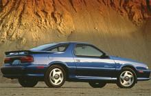 Sista årsmodellen 1993 tog sig ut på detta viset. Ganska generösa överhäng såväl fram som bak vilket var ganska vanligt för tiden.