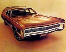 Tyckte du föregående bil var elegant är det ändå inget mot denna FuryWagon från 1970. Leende fullbred grill utan synliga strålkastare är snyggt. Så är det bara.