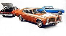 Tre varianter av1973 års Oldsmobile Omega som delade kaross med populära Chevrolet Nova. Fanns såväl med rak sexa och V8. Från1978 även med V6.