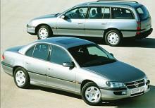Med åren mjukades linjerna upp en smula och dessa varianter från 1994 andas harmoni över karossdragen. Opel Omega B hade fortfarande raka fyrcylindriga basmotorer men toppmodellerna hade numer en V6-motor på uppåt 211 hk. Bilarna var driftsäkra men irriterande småfel lurade alltid i bakgrunden. Likadant gjorde fortfarande rosten som kröp fram irriterande fort.