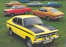 Om Opel ärvde namnet Sprint från koncernsyskonet Pontiac är väl ingen som minns längre men 1968 togs det upp till Opel Rekord C. Med 1,9 liters motorn försedd med dubbla Weberförgasare och trimmad till 106 DIN-hästar på kupémodellen, föll det sig naturligt att kalla den Sprint. När samma motor pressades ner i Kadett B fick även den heta Sprint.Rekord Sprint fanns mellan 1968-71 och Kadett Rallye Sprint mellan 1970-73 och den sistnämnda var verkligt framgångsrik i de svenska rallyskogarna. Den gula bilen längst fram är så nära en bild på en Kadett Rallye Sprint vi kan komma denna gång.