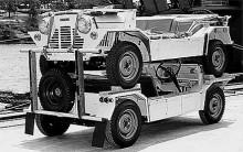Karossen utformades så att bilarna skulle gå att stapla på varandra.