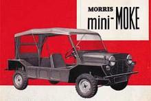 En mer basutrustad bil än Mini Moke är svårt att tänka sig. Till och med passagerarstol och baksäte kostade extra och taket bestod av en enkel duk som spändes över några rangliga bågar. Instrumenteringen bestod av en centralt placerad hastighetsmätare med inbyggd bränslemätare. På den korta tillvalslistan fanns också vindrutespolare och kurvhandtag.