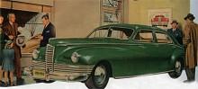 """Efter kriget var Clipper rätt ute med sin nya svepande design, men på grund av Packards storlek var det trögt att komma igång jämfört med de stora tillverkarna som hade betydligt större resurser. Clipper fanns nu med rak sexcylindrig motor och kunde beställas med """"Electromatic Drive"""". 1946 kostade en Clipper DeLuxe 1 746 dollar och 42 102 byggdes det året."""