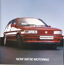 Med MG-emblem hade Maestro sportiga ambitioner. R-motorn var uppskrämd till 103 hk. Snart kom i stället den nyutvecklade S-motorn på 1,6 respektive 2 liter.