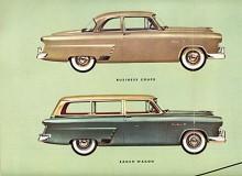 Två modeller av Mainline ur 1952 års broschyr. Dessutom fanns två- och fyradörrars sedaner.