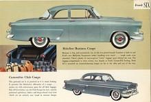 Den allra billigaste Mainline var Business Coupe som saknade baksäte därför att bagageutrymmet började bakom soffan fram. 1954 var sista året med en riktig coupé med kortare tak än den tvådörrars sedanen. Customline Club Coupe finns med på samma sida i broschyren. Förutom allt krom hade den också ett baksäte.