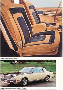För att slippa påhopp från Buickspecialister måste vi också ta med 1980 års Buick Somerset Limited Edition Coupe. Det var en specialmodell av Regal med unik färgsättning in- och utvändigt i mörkblått och ljusbrunt. I paketet ingick även ekerhjulskapslar och ett paraply med inbyggd hållare.