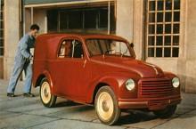 Det finns en rad varianter på Topolino och vi omöjligen undanhålla er den här sköna lastaren från 1950. Resonans medskickat från fabrik.