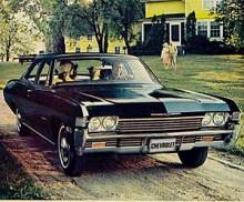 Också Biscayne 1969 hade stora dimensioner. Man behövde således inte skämmas att ta bilen för ett besök hos släktingen med det där stora huset.